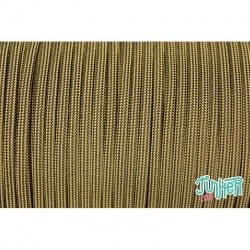 Meterware Type III 550 Cord, Farbe BLACK & TAN 380 STRIPE