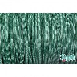 Meterware Type III 550 Cord, Farbe KELLY GREEN SILVER GREY STRIPE