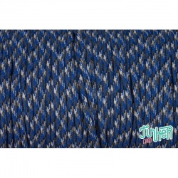 150 Meter Rolle Type III 550 Cord, Farbe NEW BLUE CAMO