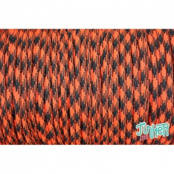 Meterware Type III 550 Cord, Farbe ORANGE BLAZE CAMO