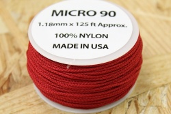 38 Meter Rolle Micro Cord 90, Farbe IMPERIAL RED