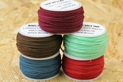 38 Meter Rollen Micro Cord 90, Farben MINT, TEAL, BURGUNDY, IMPERIAL RED, WALNUT