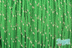 Meterware Type I TINKER Cord, Farbe KELLY GREEN W 1 REFLECTIVE TRACER