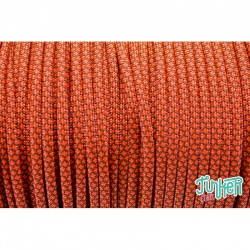 150 Meter Rolle Type III 550 Cord, Farbe CHOCOLATE BROWN & NEON ORANGE DIAMONDS