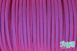 Meterware Type III 550 Cord, Farbe NEON PINK & ELECTRIC BLUE STRIPE