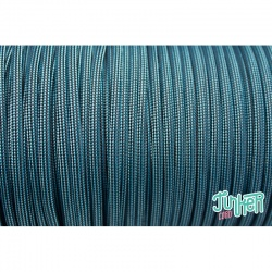 150 Meter Rolle Type III 550 Cord, Farbe NEON TURQUOISE & BK STRIPE