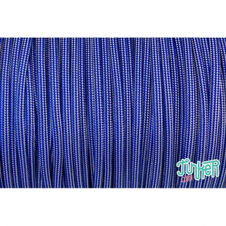 150 Meter Rolle Type III 550 Cord, Farbe ELECTRIC BLUE SILVER GREY STRIPE