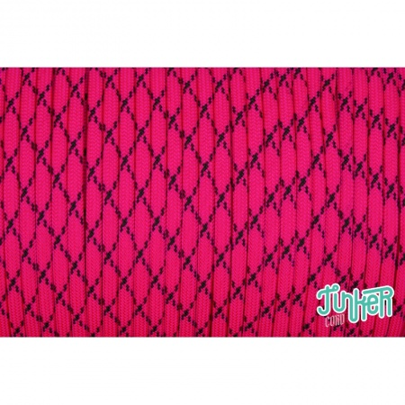 150 Meter Rolle Type III 550 Cord, Farbe NEON PINK W BLACK X