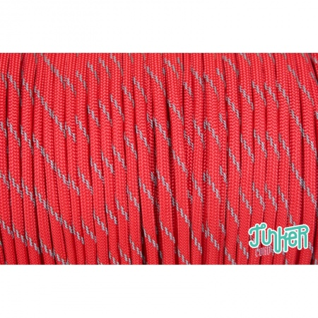 150 Meter Rolle Type III 550 Cord, Farbe RED W 3 REFLECTIVE TRACER