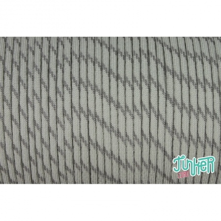 150 Meter Rolle Type III 550 Cord, Farbe SILVER GREY W 3 REFLECTIVE TRACER