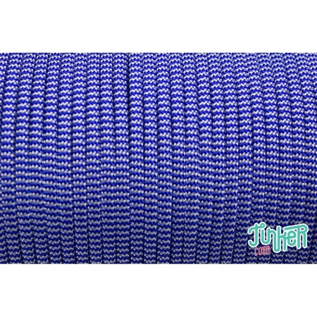 150 Meter Rolle Type III 550 Cord, Farbe ELECTRIC BLUE & SILVER GREY BB