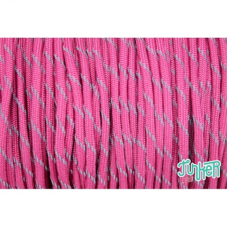 150 Meter Rolle Type III 550 Cord, Farbe FUCHSIA W 3 REFLECTIVE TRACER