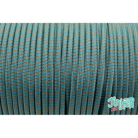 150 Meter Rolle Type III 550 Cord, Farbe NEON TURQUOISE & GOLD BROWN BB