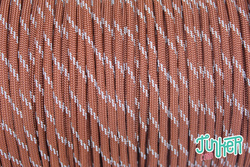 150 Meter Rolle Type III 550 Cord, Farbe CHOCOLATE BROWN...