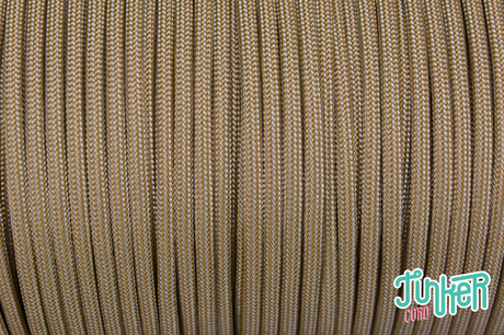 150 Meter Rolle Type III 550 Cord, Farbe GOLD SILVER GREY STRIPE