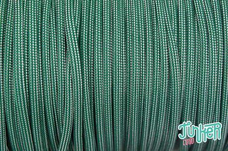 150 Meter Rolle Type III 550 Cord, Farbe KELLY GREEN SILVER GREY STRIPE