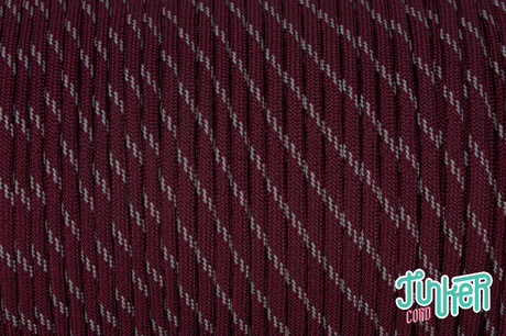 150 Meter Rolle Type III 550 Cord, Farbe BURGUNDY W 3 REFLECTIVE TRACER