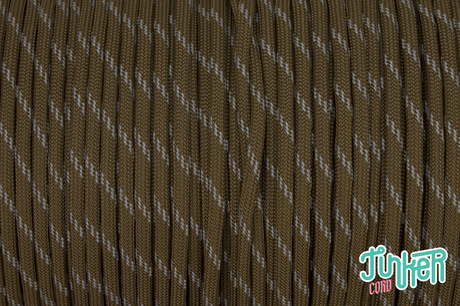 150 Meter Rolle Type III 550 Cord, Farbe COYOTE BROWN W 3 REFLECTIVE TRACER