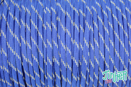 150 Meter Rolle Type III 550 Cord, Farbe ELECTRIC BLUE W 3 REFLECTIVE TRACER