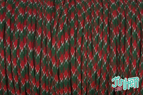 Meterware Type III 550 Cord, Farbe HOLLY JOLLY