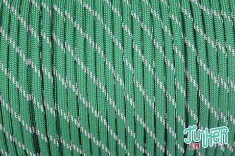 150 Meter Rolle Type III 550 Cord, Farbe KELLY GREEN W 3 REFLECTIVE TRACER