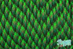 150 Meter Rolle Type III 550 Cord, Farbe NEON GREEN FLAME