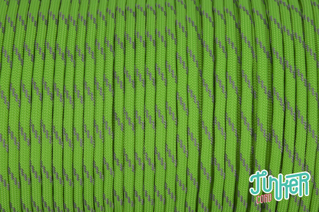 150 Meter Rolle Type III 550 Cord, Farbe NEON GREEN W 3 REFLECTIVE TRACER