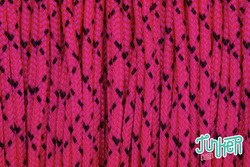 CUSTOM CUT Type I Cord in color NEON PINK W BLACK X