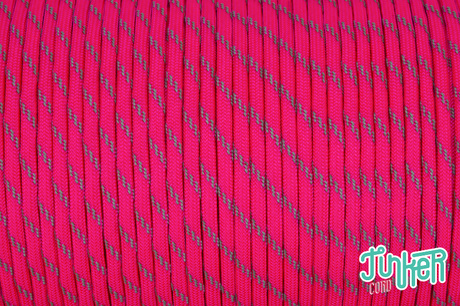 Meterware Type III 550 Cord, Farbe NEON PINK W 3 REFLECTIVE TRACER