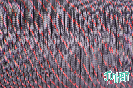 Meterware Type III 550 Cord, Farbe THIN RED LINE