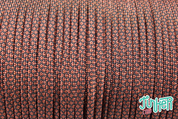 150 Meter Rolle Type III 550 Cord, Farbe RUST DIAMONDS