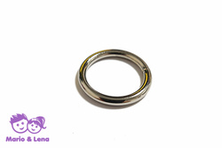 O-Ring 4mm  Metal, 25mm/1 inch, silver