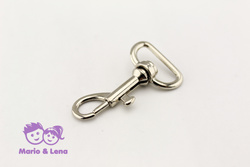 Carabiner with unbowed swivel 20 x 43mm Silver