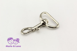 Carabiner with unbowed swivel 25 x 45mm Silver