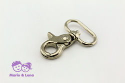 Scissors Carabiner half-rounded eye 25 x 48mm Silver