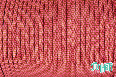 Meterware Type III 550 Cord, Farbe CHOCOLATE BROWN & FUCHSIA DIAMONDS