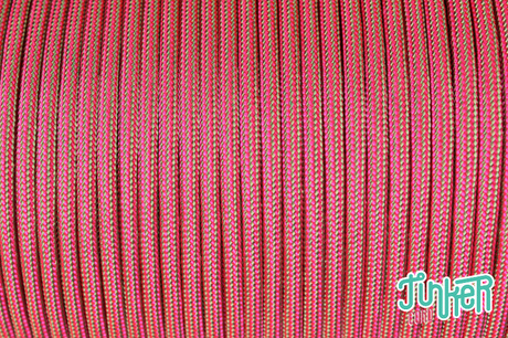 150 Meter Rolle Type III 550 Cord, Farbe MINT & NEON PINK STRIPE