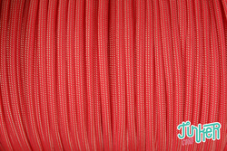 CUSTOM CUT Type III 550 Cord in color SALMON & WHITE STRIPE