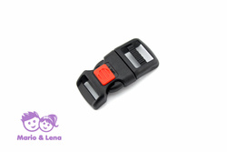 Plug Buckle with safety catch 16mm Black