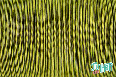 150 Meter Rolle Type III 550 Cord, Farbe NEON YELLOW & BLACK STRIPE