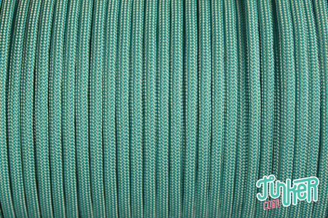 150 Meter Rolle Type III 550 Cord, Farbe TURQUOISE & CREAM STRIPE