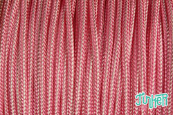 Meterware Type II 425 Cord, Farbe ROSE PINK & WHITE STRIPE