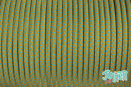 150 Meter Rolle Type III 550 Cord, Farbe GOLDENROD & NEON TURQUOISE DIAMONDS