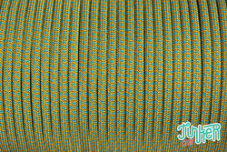 150 Meter Rolle Type III 550 Cord, Farbe GOLDENROD & NEON...