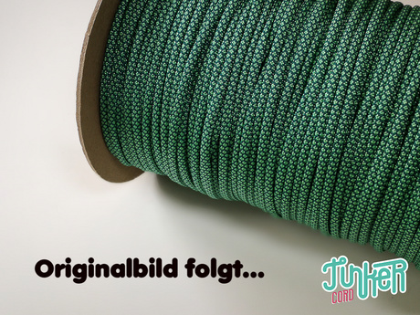 150 Meter Rolle Type III 550 Cord, Farbe TEAL & MINT DIAMONDS