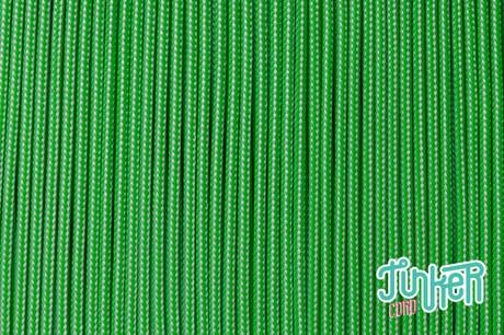 150 Meter Rolle Type II 425 Cord, Farbe WHITE & NEON GREEN STRIPE