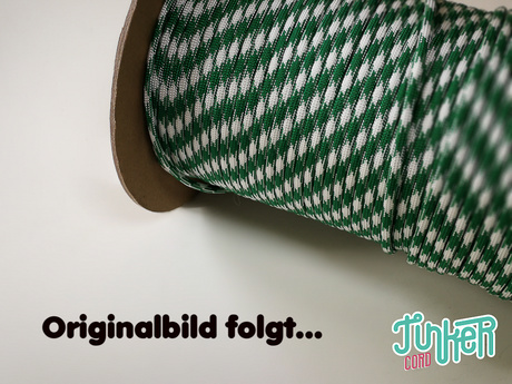 150 Meter Rolle Type III TINKER Cord, Farbe WHITE & KELLY GREEN 50/50
