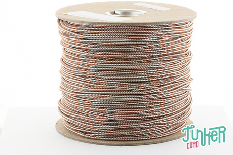 150 Meter Rolle Type II TINKER Cord, Farbe CHOCOLATE BROWN & CREAM STRIPE