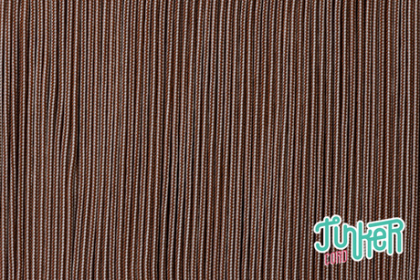 150 Meter Rolle Type I TINKER Cord, Farbe CHOCOLATE BROWN & CREAM STRIPE