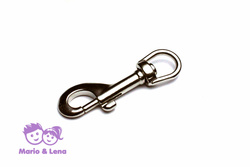 Carabiner with rolling swivel 16mm Silver